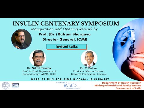 ICMR Insulin Centenary Symposium