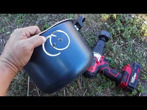 Cooking Without Power DIY Portable Rocket Stove / Grill (V1478) Cooking Without Power