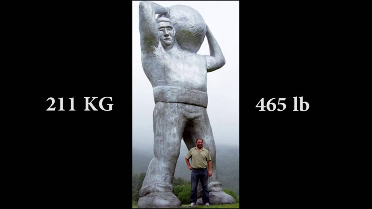 BASQUE STRONG MAN (STONE ATLAS) 211KG / 465LB IÑAKI PERURENA