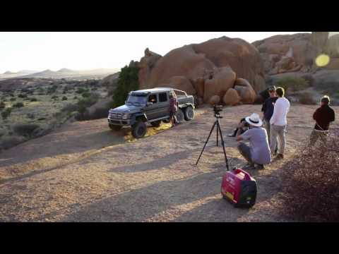 Mercedes Benz TV  Making of movie in Namibia