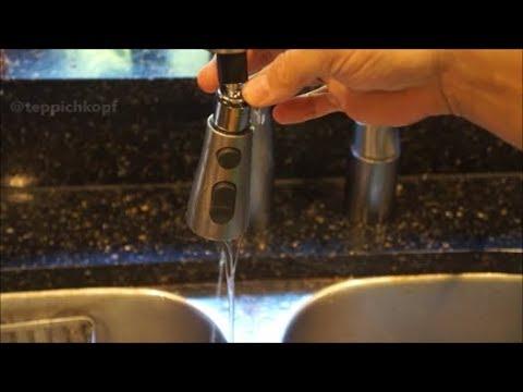 easy diy fix leaky kohler kitchen faucet pull down sprayer