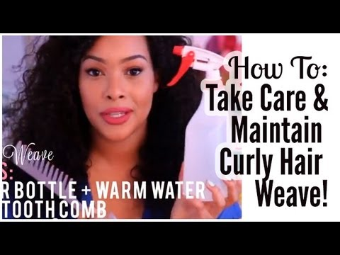 how to take care of curly hair weave extensions youtube