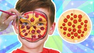 Pizza Face Paint | Food Face Paint