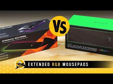 Razer Goliathus Extended Chroma vs Steelseries QCK Prism Mousepads