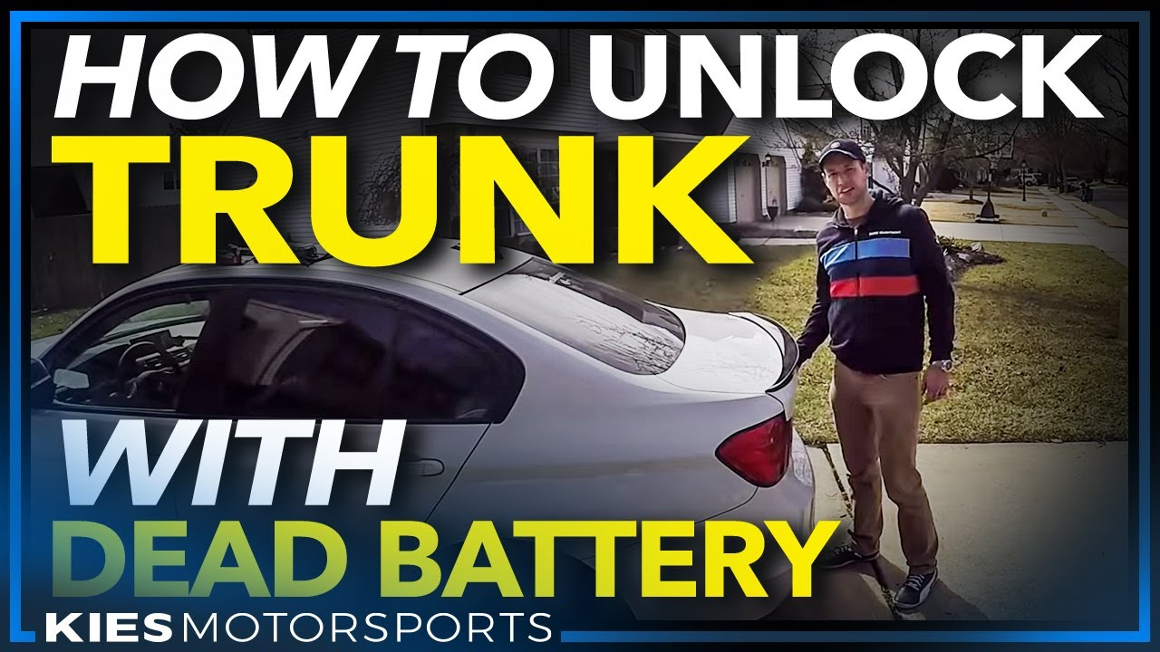 hight resolution of how to open a trunk and jump start a bmw with a dead battery featuring the noco gb 40 jump starter