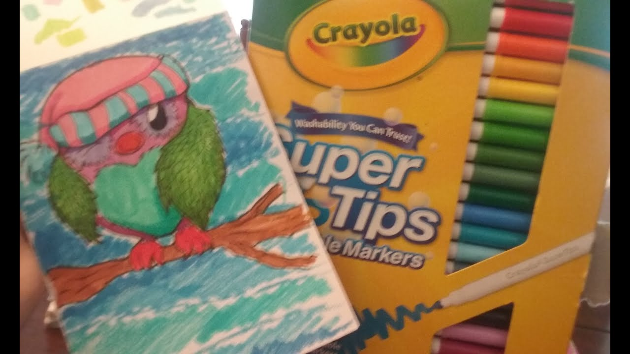 coloring with crayola markers