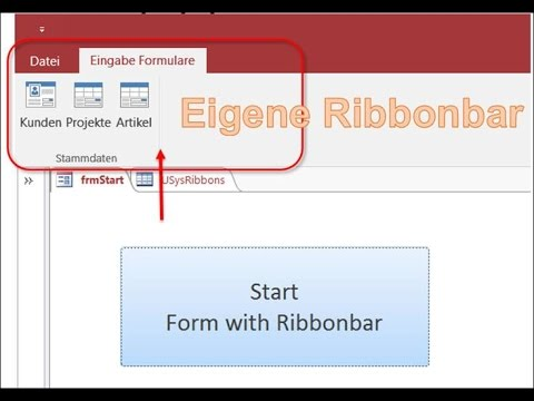 How to create your own Ribbonbar in Microsoft Access 2016