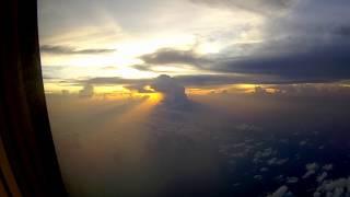 G27MOTOVLOG#24 Pemandangan sore hari di pesawat
