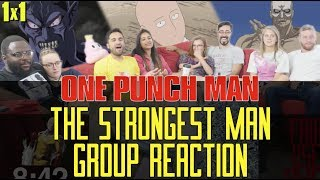 One Punch Man - 1x1 The Strongest Man - Group Reaction