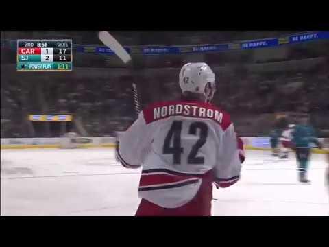 Carolina Hurricanes vs. San Jose Sharks Joakim Nordstrom GOAL