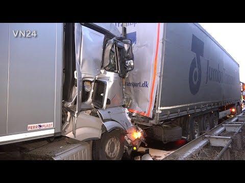 13.02.2020 - VN24 - Sattelzug Fährt Auf A1 In Ein Stauende - Fahrer Verletzt