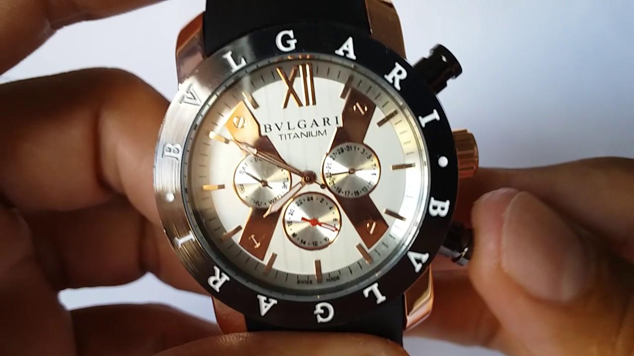 Relógio Bvlgari Titanium Automático - YouTube 45626adcb8