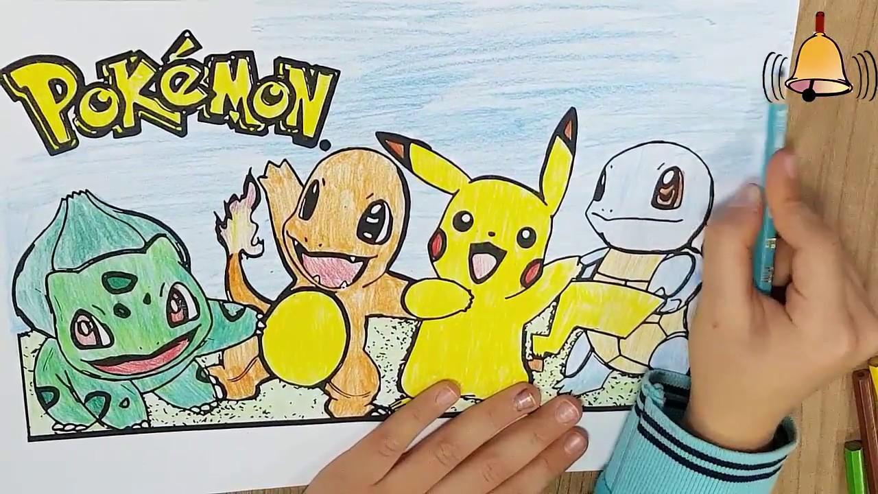 Pokemon Cizgi Filmi Boyama Pokemon Coloring Pages Youtube