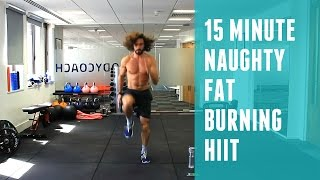 Zapętlaj Naughty 15 Minute Fat Burning HIIT Workout 🔥 | The Body Coach | The Body Coach TV