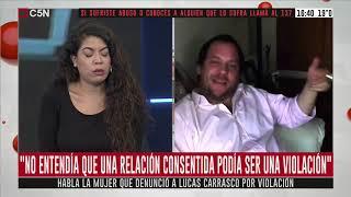 Habla la mujer que denunció a Lucas Carrasco por violación