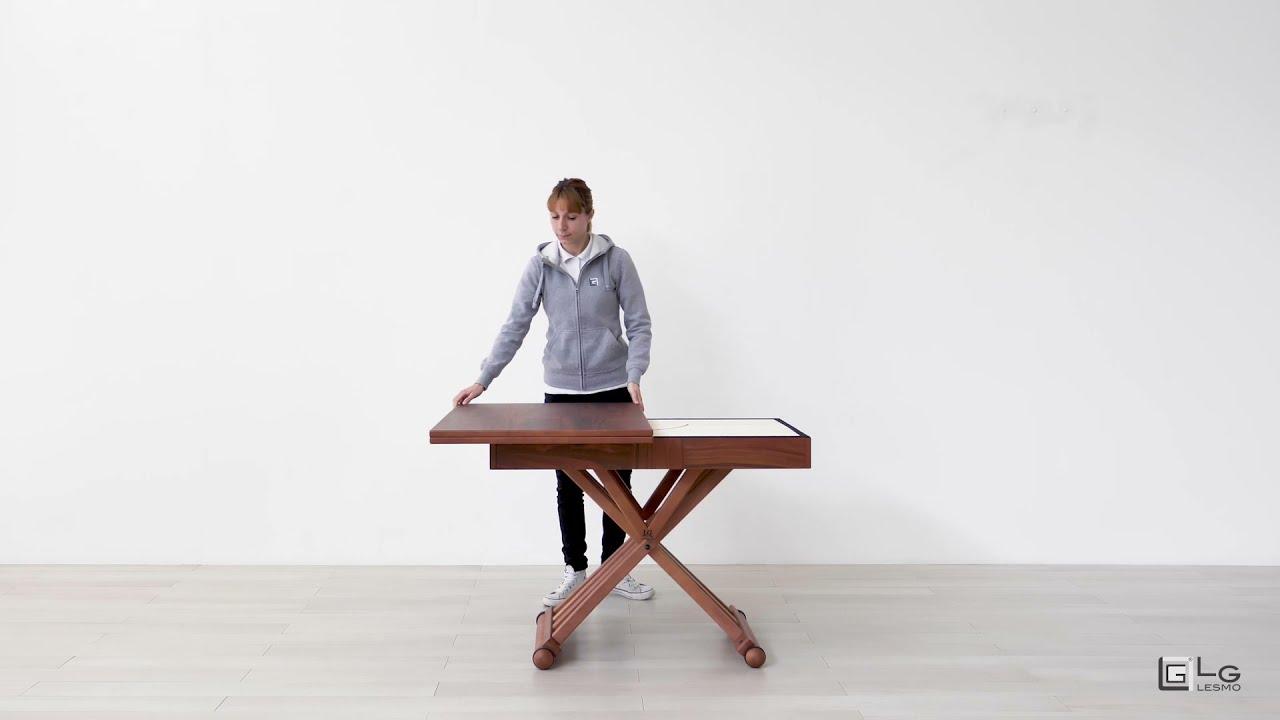 Tavolo magico a rotazione in vero legno | LG LESMO