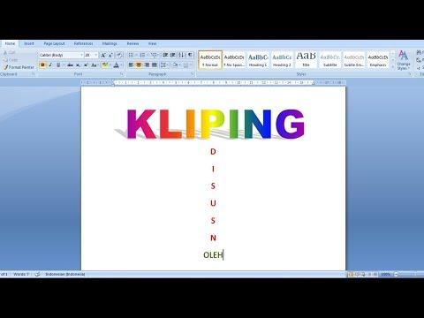 Cara Membuat Tugas Kliping Sekolahan Di Microsoft Word 2007