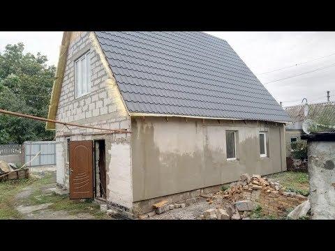 Усиление фундамента дома (бетонная подушка) )