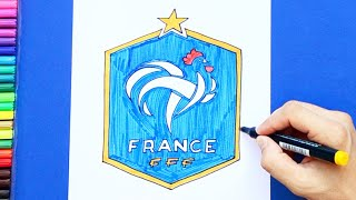 How to draw and color France National Football Team Logo