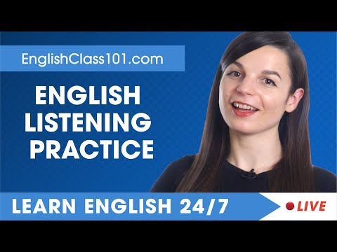 Learn English Live 24/7 🔴 English Listening Practice - Daily Conversations ✔