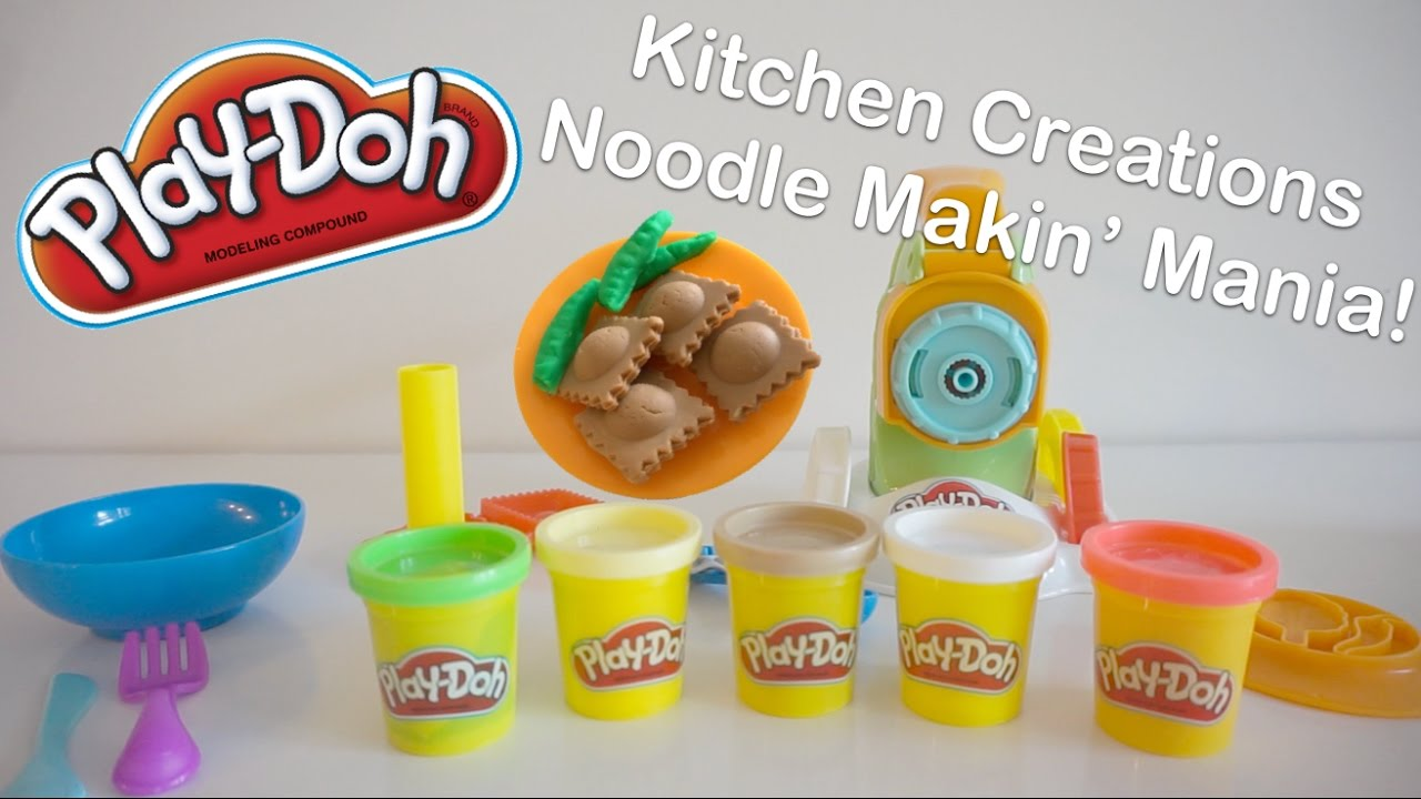Play Doh Kitchen Creations Noodle Makin Mania Play Set Review ...