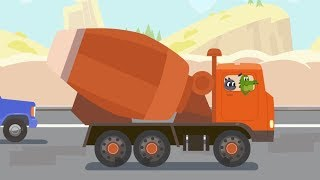 Concrete Mixer Truck - Cars, cars - Learn Trucks and Cars for Kids and Toddlers