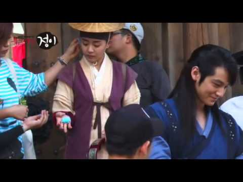 Moon Geun Young and Kim Bum BTS