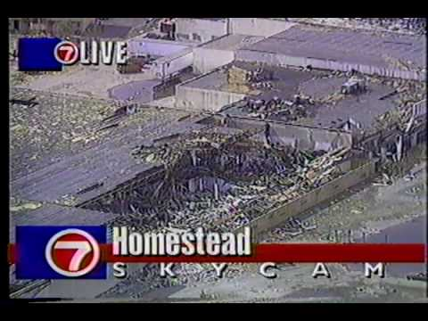 Hurricane Andrew 1992, Incredible Damage!  Part-1