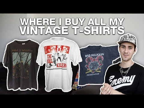WHERE I BUY ALL MY VINTAGE T-SHIRTS