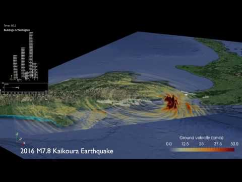Simulation of the 2016 Mw7.8 Kaikoura earthquake and response of buildings in Wellington