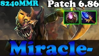 Dota 2 - Patch 6.86 : Miracle- 8240MMR TOP 1 MMR Plays SandKing with Aganhim's - Gameplay
