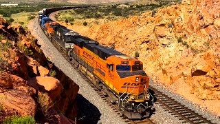 [HD] Awesome BNSF Trains in Northern Arizona!