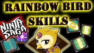Ninja Saga Thanksgiving Event Pet X Rainbow Bird X Skills Demonstration