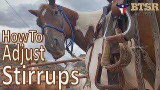 How To Adjust Stirrups For Western Saddles -BTSR- Cavalcade Horse Program