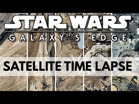 Satellite Imagery time lapse of Galaxys Edge + Before and After analysis
