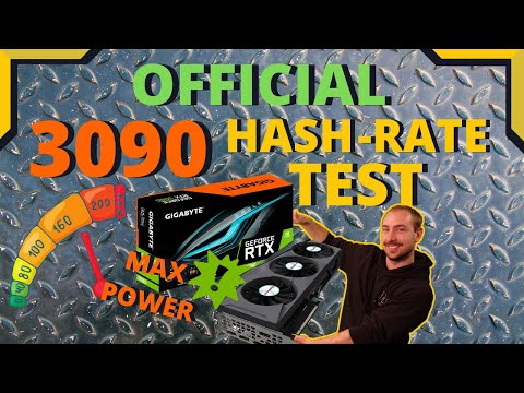 OFFICIAL Nvidia RTX 3090 Hashrate MINING TEST RESULTS! - THE MOST POWERFUL CARD EVER???
