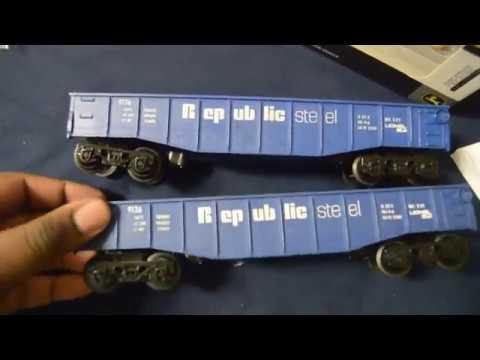 O Gauge Lionel Republic Steel Rail Gondolas Unboxing