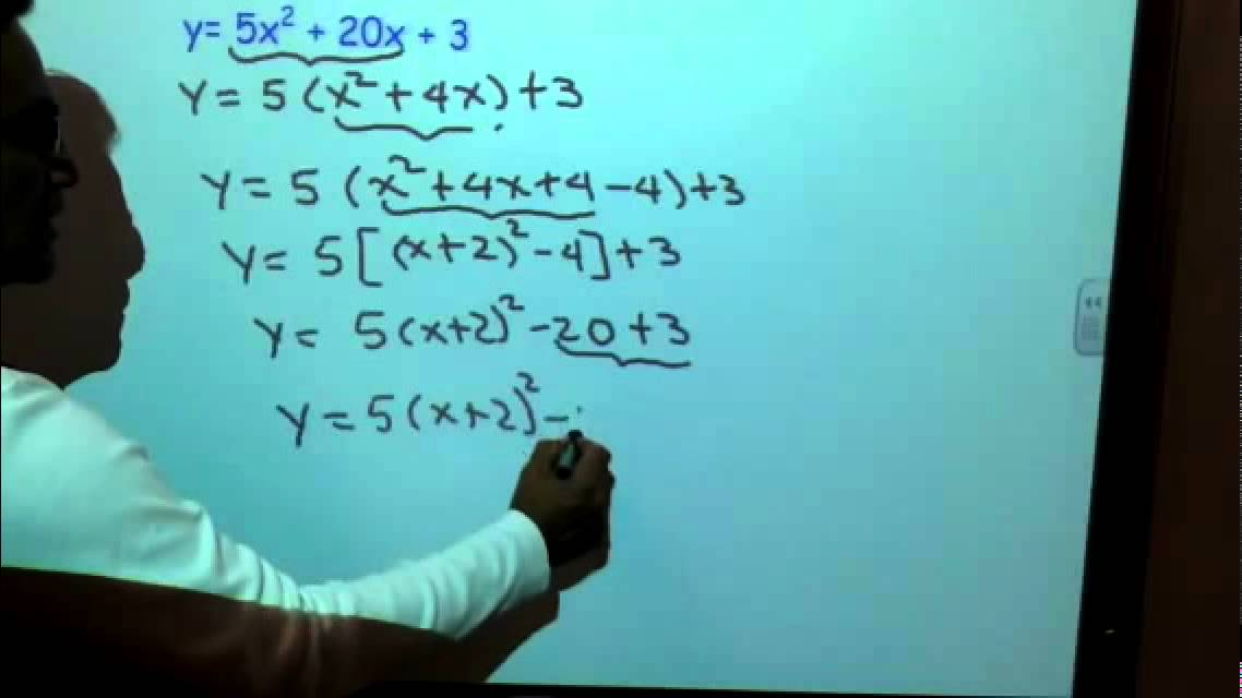 Completing the square when leading coefficient is not +1 nor -1
