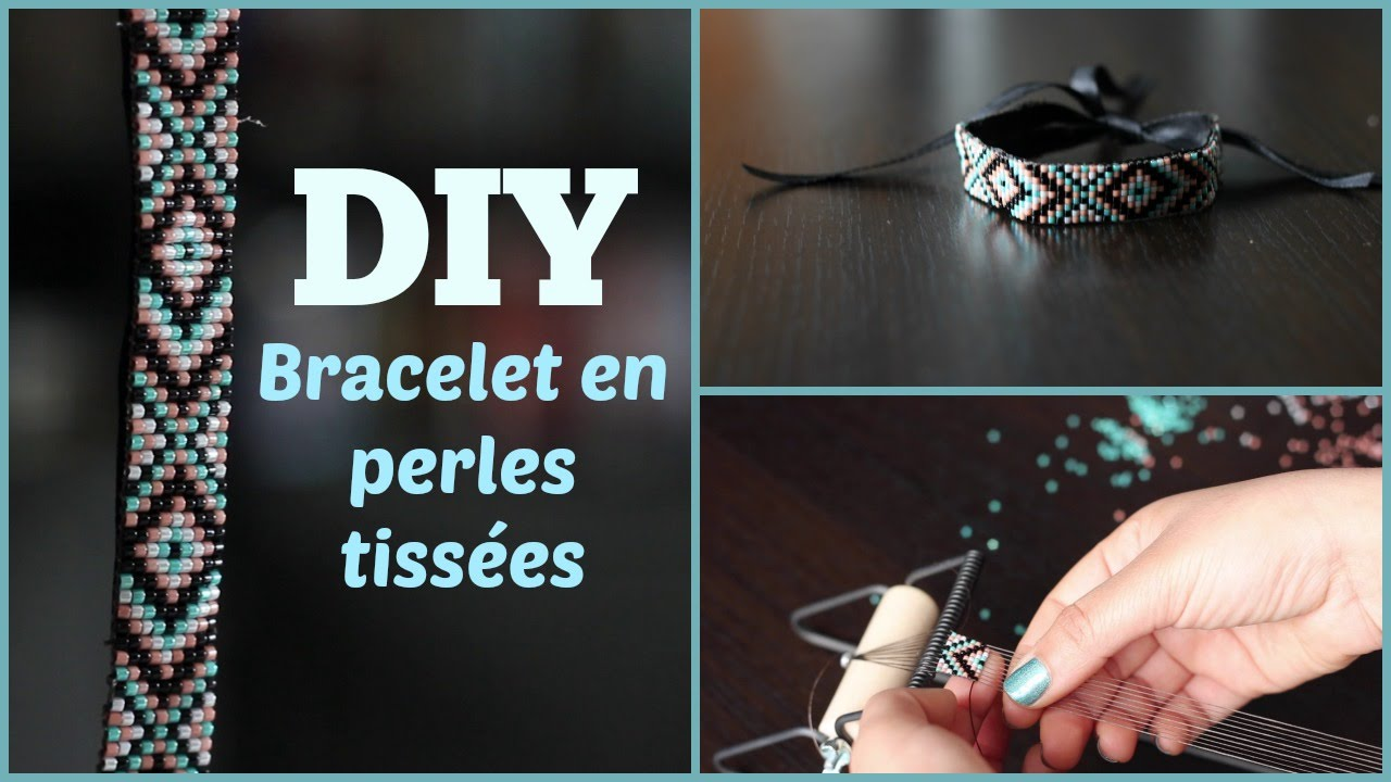 Favori DIY # TUTO Bracelet en perles tissées - Loom beads - YouTube TA56