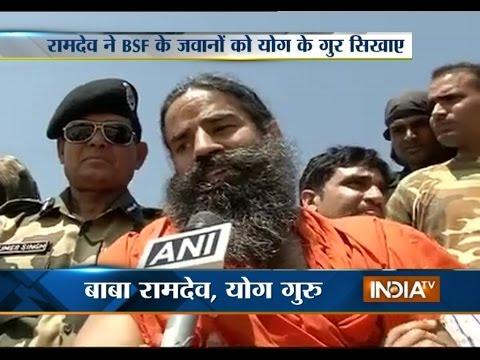 Baba Ramdev visits Longewala Post in Jaisalmer - India TV