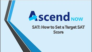 SAT: How to Set a Target SAT Score