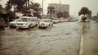 اخبار الأن - سيول في شوارع بغداد بعد أمطار غزيرة ليلا