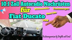 10.1 Zoll  Autoradio Nachrüsten für Fiat Ducato Kastenwagen Wohnmobil Pumpkin Autoradio