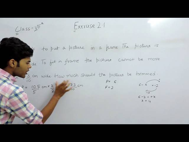 Exercise 2.1 Questions 6 - NCERT/CBSE Solutions for Class 7th Maths