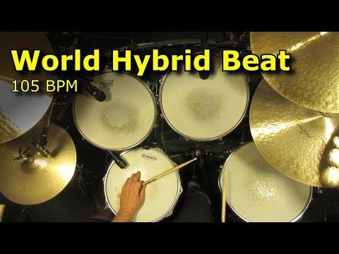 World Hybrid Drum Beat - Backing Track - 105 BPM