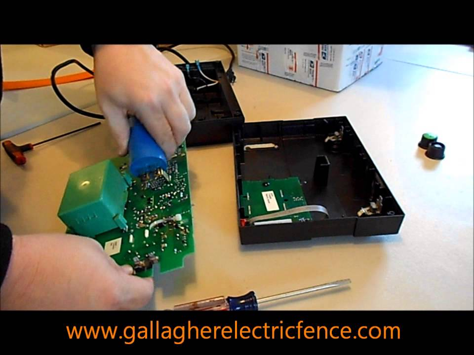 Repairing a gallagher m1000 electric fence charger youtube publicscrutiny Choice Image