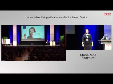 """Keynote @OOP2017 - Marie Moe: """"Unpatchable: Living with a Vulnerable Implanted Device"""""""