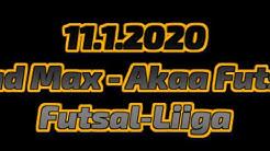 11.1.2020 Mad Max - Akaa Futsal Futsal-Liiga
