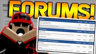 ROBLOX FORUMS ARE BACK! (and better!)
