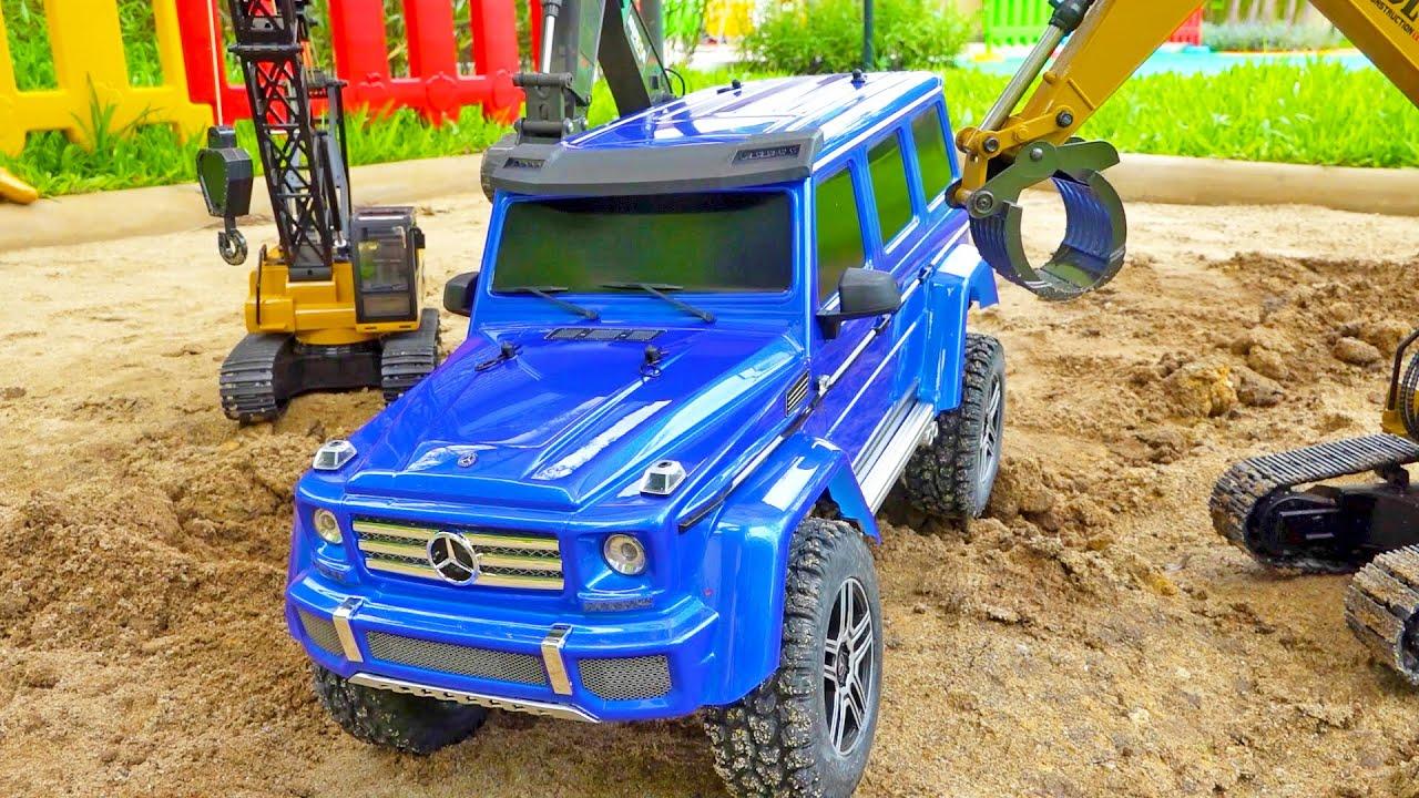 자동차 장난감 중장비 포크레인 몬스터 트럭 구출놀이 Car Toys Funny Story with Truck